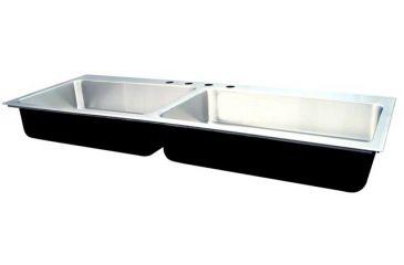 Superbe Just Manufacturing Ss Dbl Sink W/ Ledge 21X43 DL2143AGR
