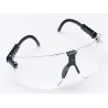 3M Lexa Eye Wear Safety Glasses Med Black Temple Clear Lens