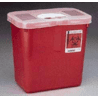 Kendall Healthcare Sharps Disposal Containers, Tyco Healthcare/Kendall 8970 Containers With Rotor Lid Red With Clear Lid, Rectangular