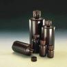 Nalge Nunc Boston Round Bottles, Amber, High-Density Polyethylene, Narrow Mouth, NALGENE 2004-0002