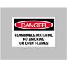 National Marker Sign DANGER-FLAMMABLE 7X10 D-126-P