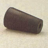 Plasticoid Black Rubber Stoppers, One-Hole 1--M291