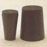Plasticoid Black Rubber Stoppers, Solid 14-M290