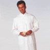 White Swan Unisex MetaGuard Lab Coats, White Swan/Meta 1165-311-M Knit Cuffs And Open Neck