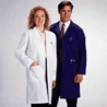 White Swan Unisex Polyester/Cotton Lab Coats, White Swan-Meta 6116-11-S