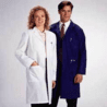 White Swan Unisex Polyester/Cotton Lab Coats, White Swan-Meta 6116-11-XS