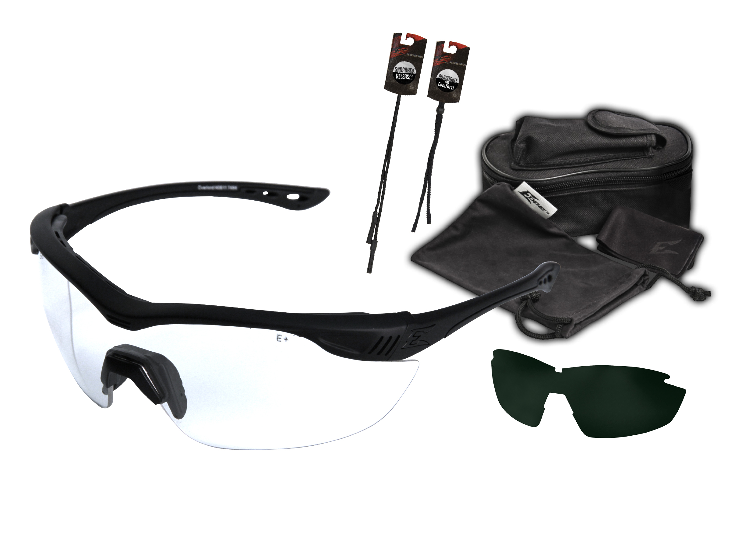 Wiley X Saber Advanced Tactical Military Shooting Safety Glasses 2 Lens Kit NEW